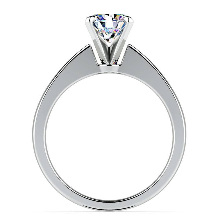 Flat Taper Solitaire Engagement Ring in Platinum | 02