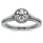 Floating Bezel Solitaire Engagement Ring in Platinum | Thumbnail 01