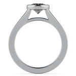 Floating Bezel Solitaire Engagement Ring in Platinum | Thumbnail 02