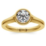 Floating Bezel Solitaire Engagement Ring in Yellow Gold | Thumbnail 01