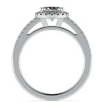 Floating Halo Diamond Engagement Ring in White Gold | Thumbnail 02