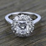 Floral Halo Diamond Engagement Ring in White Gold | Thumbnail 05