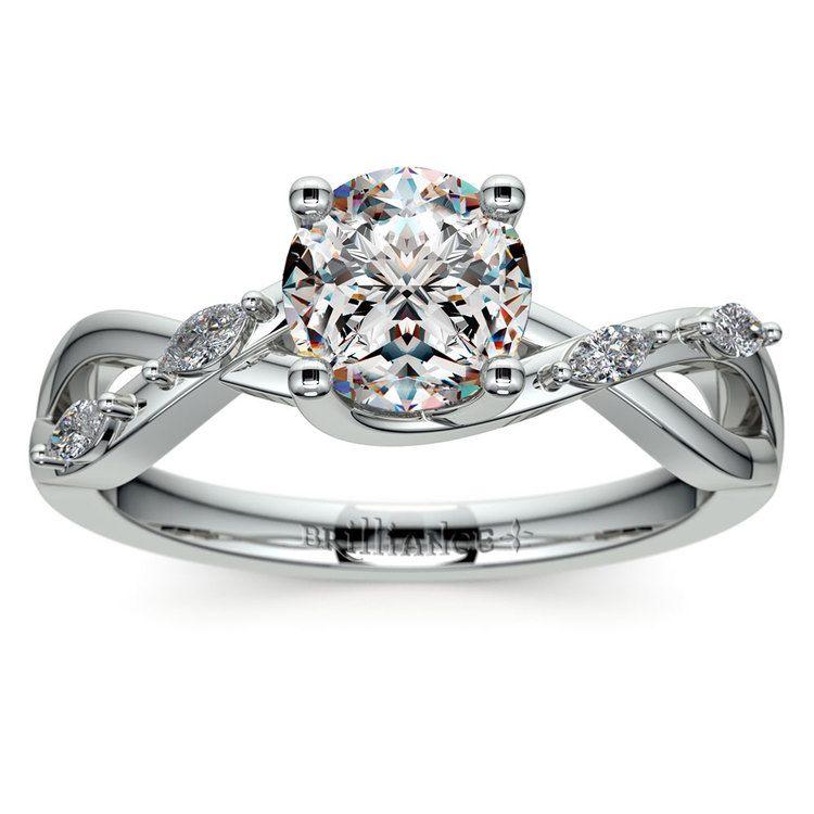 Florida Ivy Diamond Engagement Ring in Platinum | 01