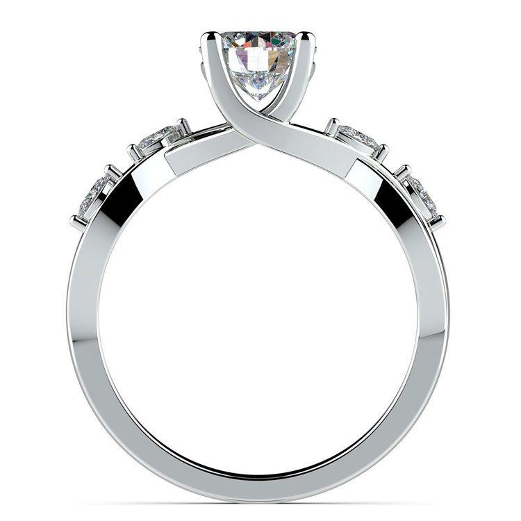 Florida Ivy Diamond Engagement Ring in Platinum | 02