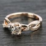 Florida Ivy Diamond Engagement Ring in Rose Gold | Thumbnail 05