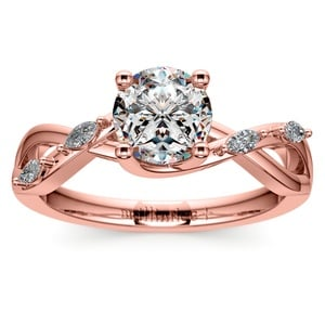 Florida Ivy Diamond Engagement Ring in Rose Gold