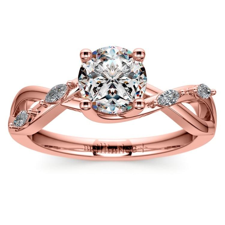 Florida Ivy Diamond Engagement Ring in Rose Gold | 01