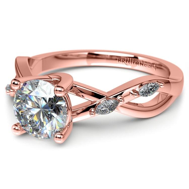 Florida Ivy Diamond Engagement Ring in Rose Gold | 04