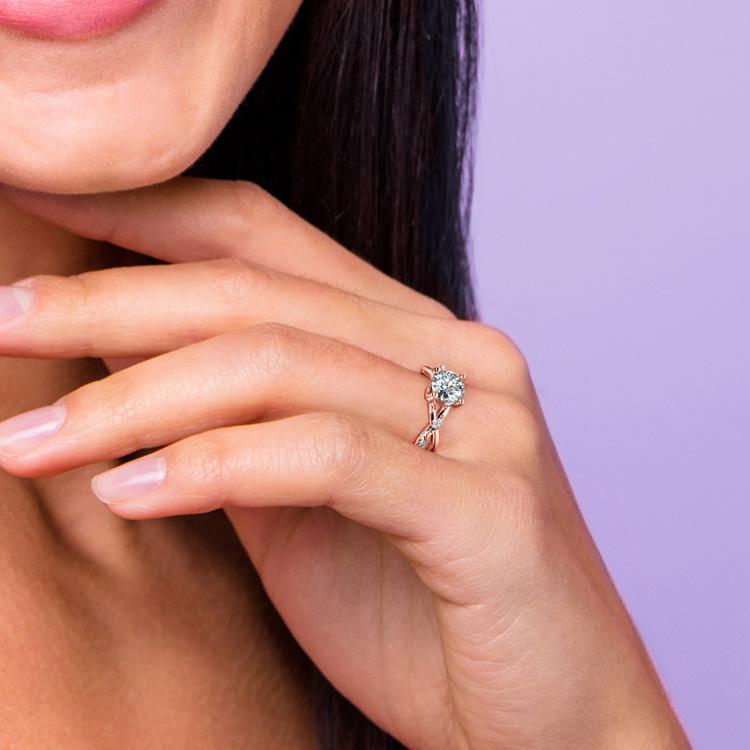 Florida Ivy Diamond Engagement Ring in Rose Gold | 07