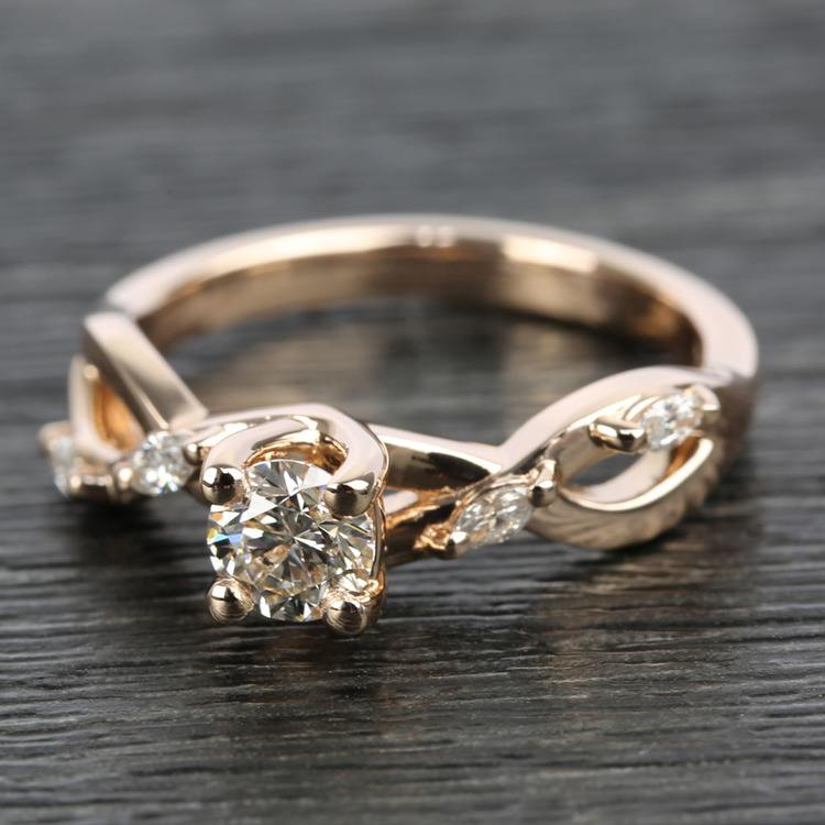 Florida Ivy Diamond Engagement Ring in Rose Gold | 05