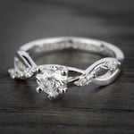 Florida Ivy Diamond Engagement Ring in White Gold | Thumbnail 05