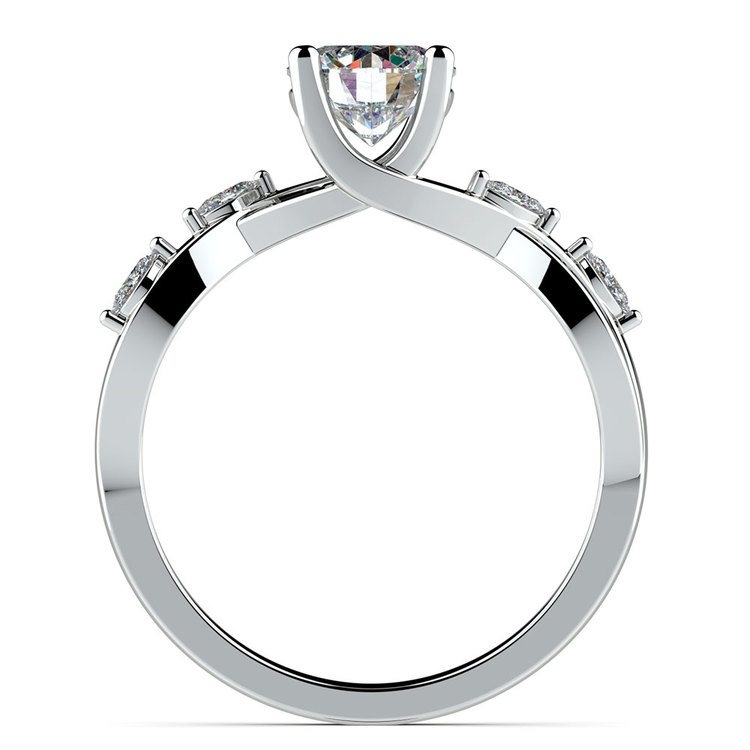 Florida Ivy Diamond Engagement Ring in White Gold | 02