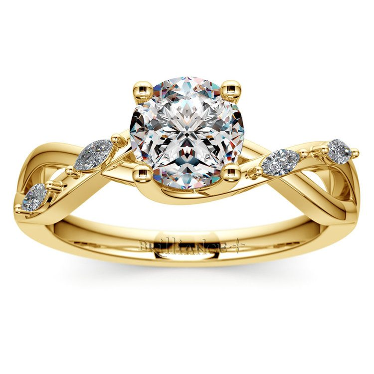 Florida Ivy Diamond Engagement Ring in Yellow Gold | 01