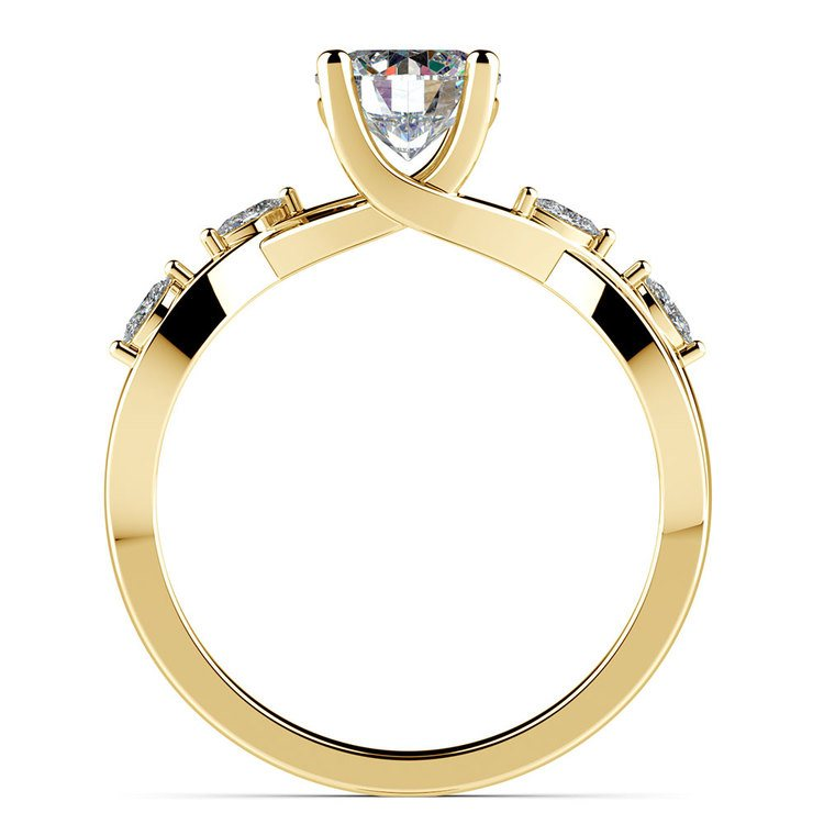 Florida Ivy Diamond Engagement Ring in Yellow Gold | 02