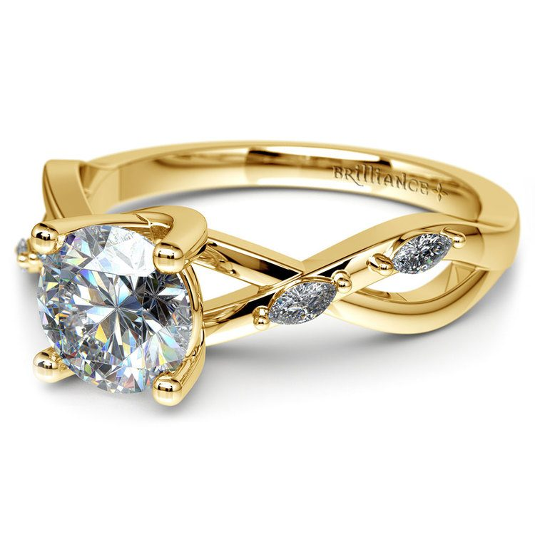 Florida Ivy Diamond Engagement Ring in Yellow Gold | 04