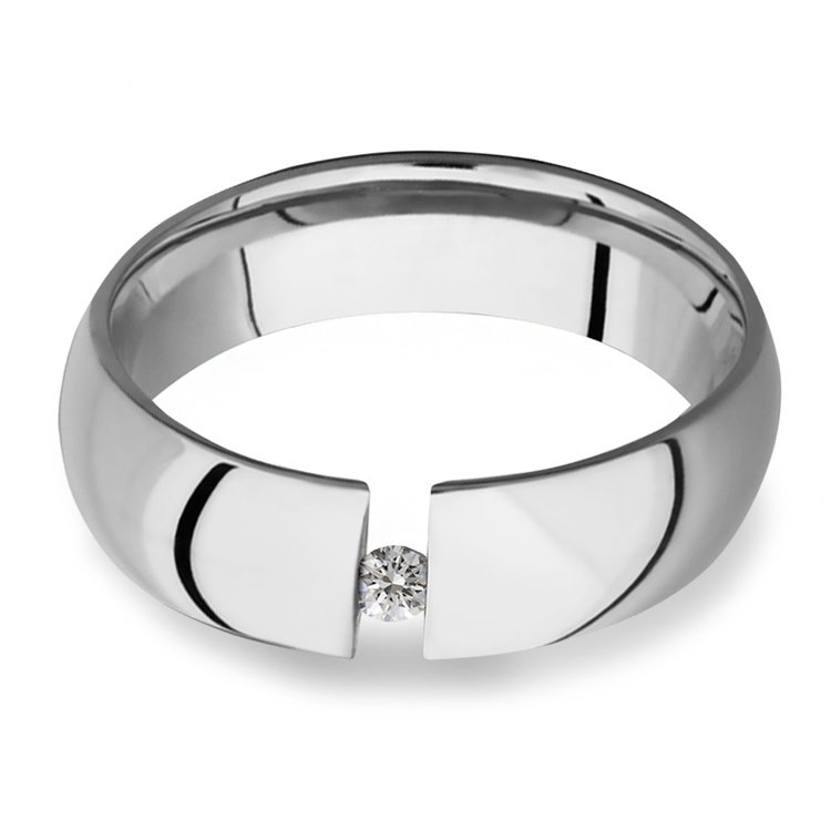 The Force - Cobalt & Diamond Mens Engagement Ring | 01