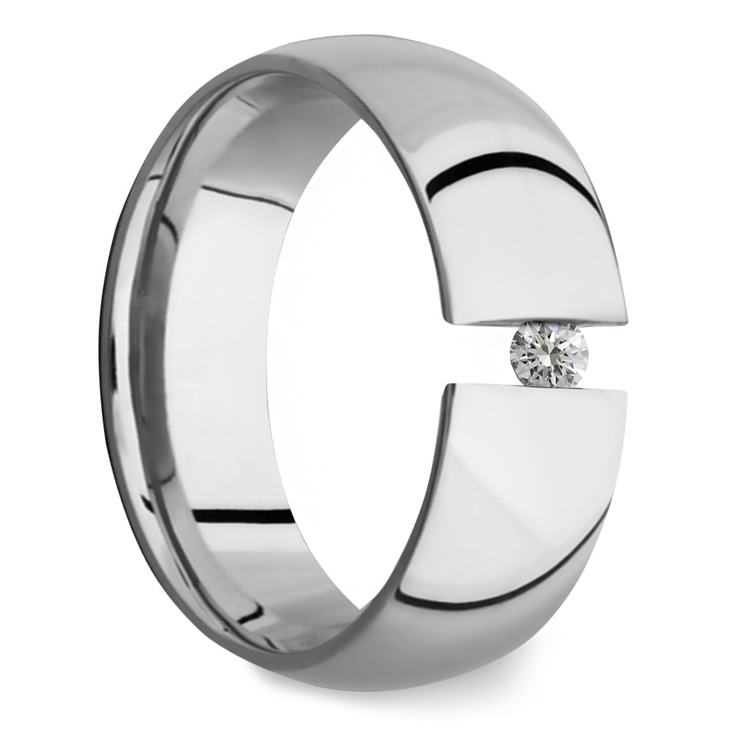 The Force - Cobalt & Diamond Mens Engagement Ring | 02