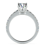 Four-Prong Scallop Diamond Engagement Ring in White Gold | Thumbnail 02