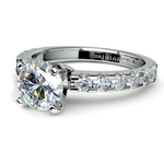 Four-Prong Scallop Diamond Engagement Ring in White Gold | Thumbnail 04