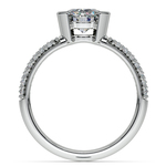 Half Bezel Diamond Engagement Ring in Platinum (3/8 ctw)  | Thumbnail 02