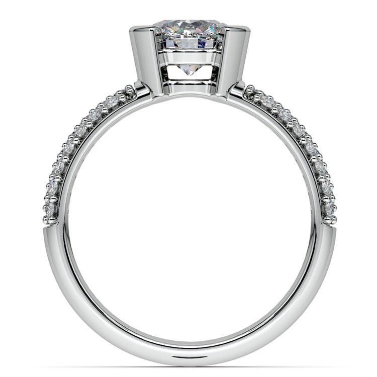 Half Bezel Diamond Engagement Ring in Platinum (3/8 ctw)  | 02