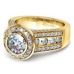 Halo Bezel Diamond Engagement Ring in Yellow Gold | Thumbnail 04