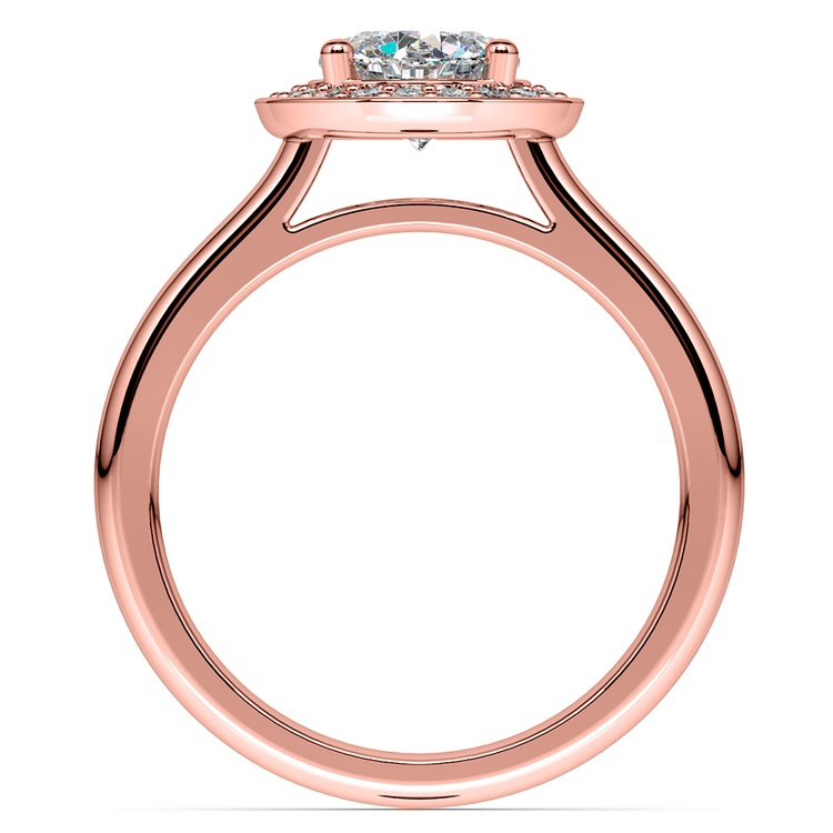 Halo Diamond Engagement Ring in Rose Gold (1/4 ctw) | 02