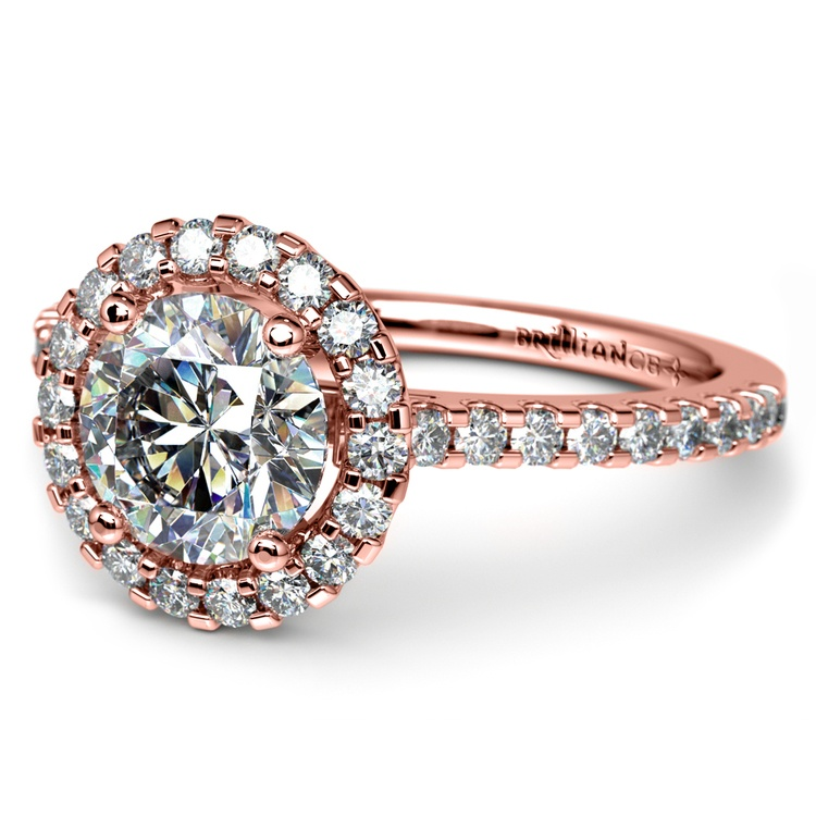 Halo Diamond Engagement Ring in Rose Gold | 04