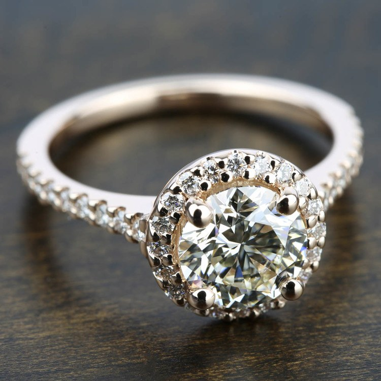 Halo Diamond Engagement Ring in Rose Gold | 05