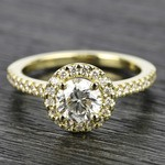 Halo Diamond Engagement Ring in Yellow Gold | Thumbnail 05