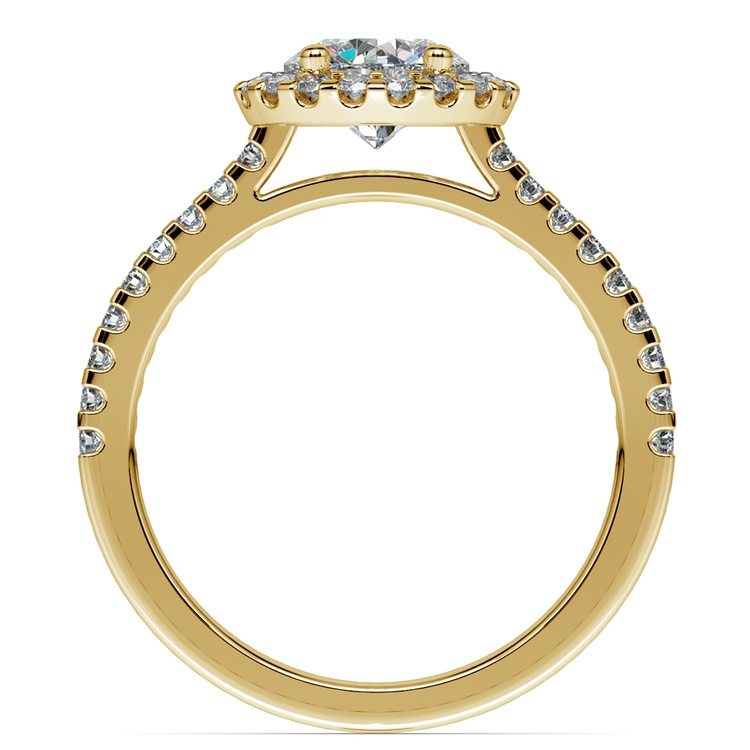 Halo Diamond Engagement Ring in Yellow Gold | 02