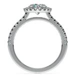 Halo Diamond Preset Engagement Ring in Platinum (1 1/2 ctw)  | Thumbnail 04
