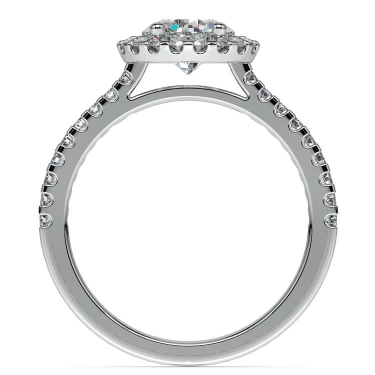 Halo Diamond Preset Engagement Ring in Platinum (1/2 ctw)  | 04