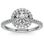 Halo Diamond Preset Engagement Ring in Platinum (3/4 ctw)  | Thumbnail 02
