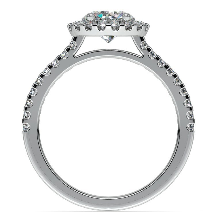 Halo Diamond Preset Engagement Ring in White Gold (1/2 ctw) | 04