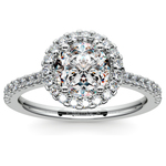 Halo Diamond Preset Engagement Ring in White Gold (1 ctw)  | Thumbnail 02