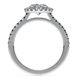 Halo Diamond Preset Engagement Ring in White Gold (1 ctw)  | Thumbnail 04