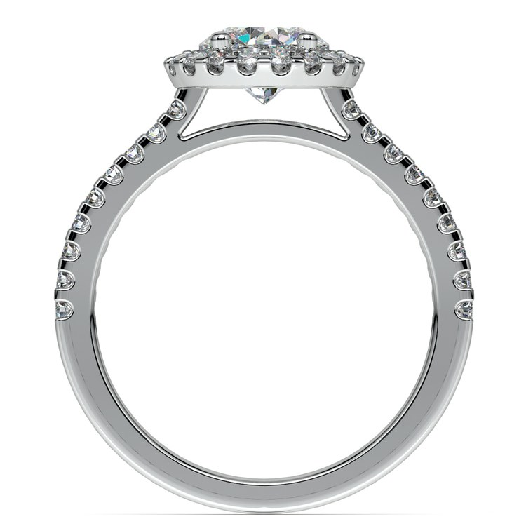 Halo Diamond Preset Engagement Ring in White Gold (1 ctw)  | 04