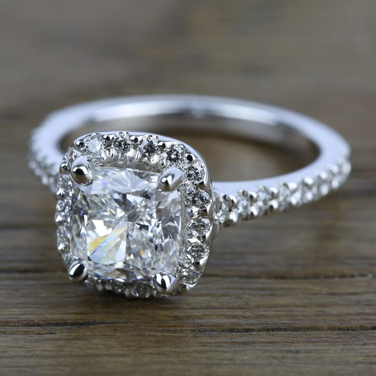 Halo Diamond Engagement Ring in White Gold | 05