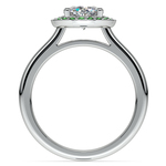 Halo Emerald Gemstone Engagement Ring in Platinum | Thumbnail 02