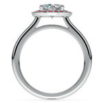 Halo Ruby Gemstone Engagement Ring in White Gold | Thumbnail 02