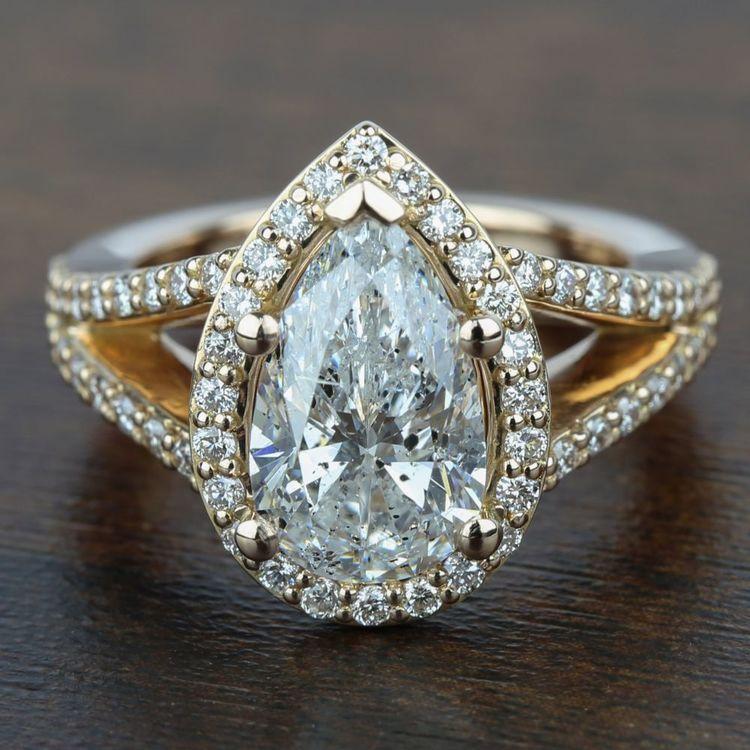 Halo Split Shank Diamond Engagement Ring in Rose Gold | 05