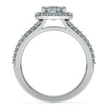 Halo Split Shank Diamond Engagement Ring in Platinum   Thumbnail 02