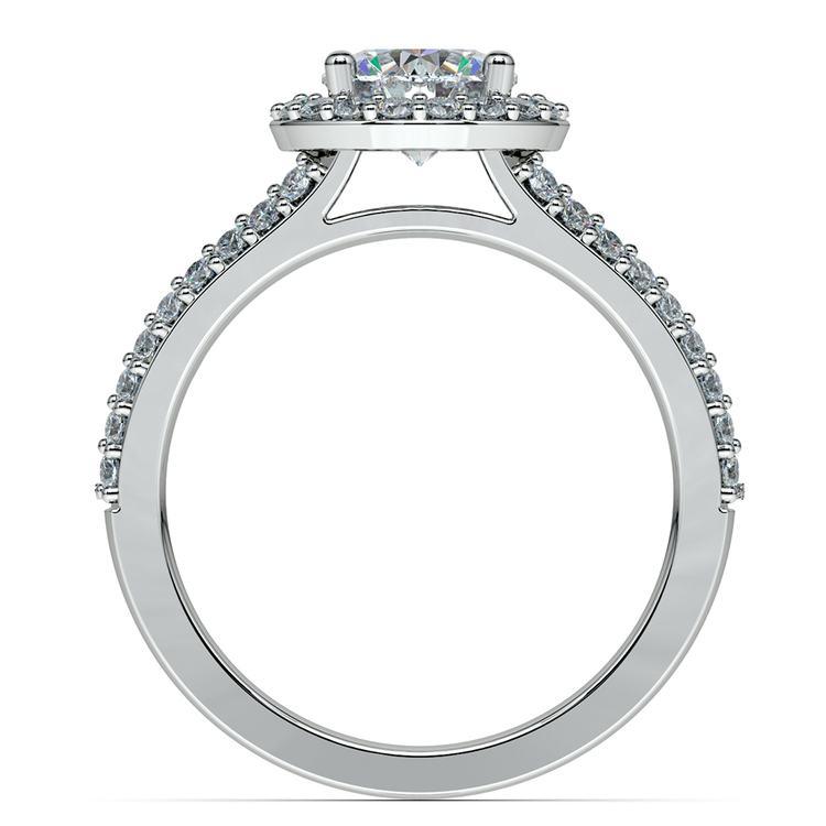 Halo Split Shank Diamond Engagement Ring in Platinum   02