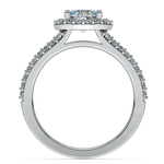 Halo Split Shank Diamond Engagement Ring in White Gold | Thumbnail 02