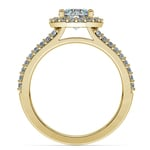 Halo Split Shank Diamond Engagement Ring in Yellow Gold | Thumbnail 02