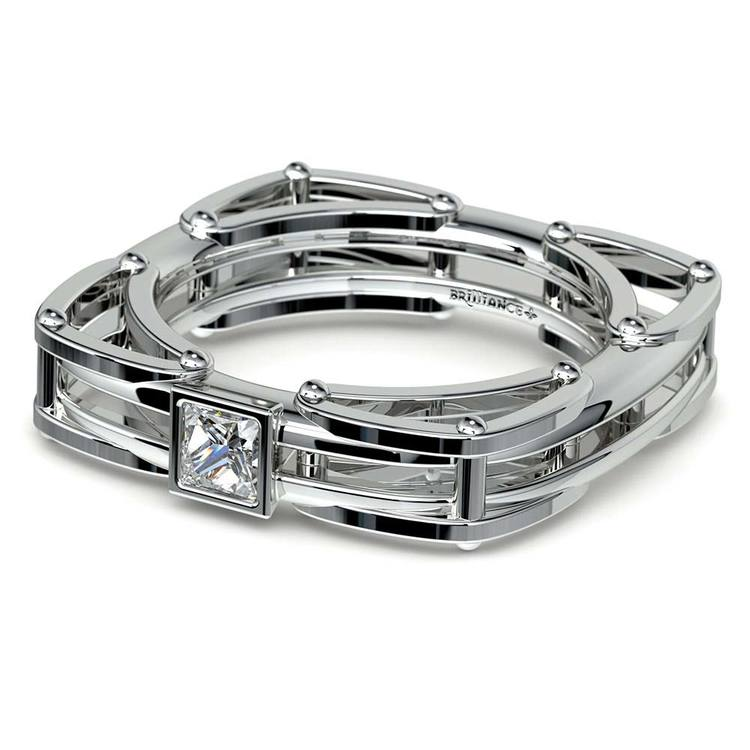 Hephaestus Princess Solitaire Mangagement™ Ring (1/3 ctw) | 04