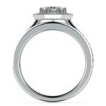 Hexagon Halo Engagement Ring & Matching Band In Platinum | Thumbnail 02