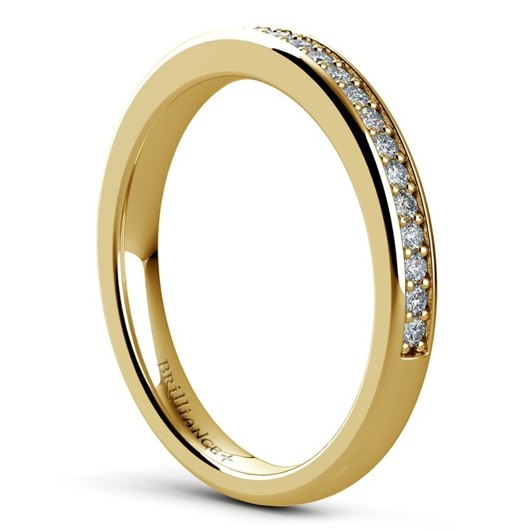 Hexagon Halo Engagement Ring & Matching Band In Yellow Gold | 04