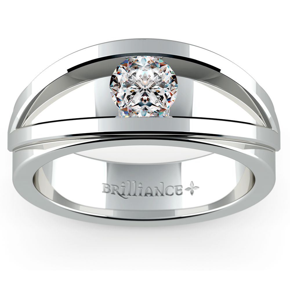 mens designer wedding rings hyperion solitaire mangagement ring 3 4 ctw 5792